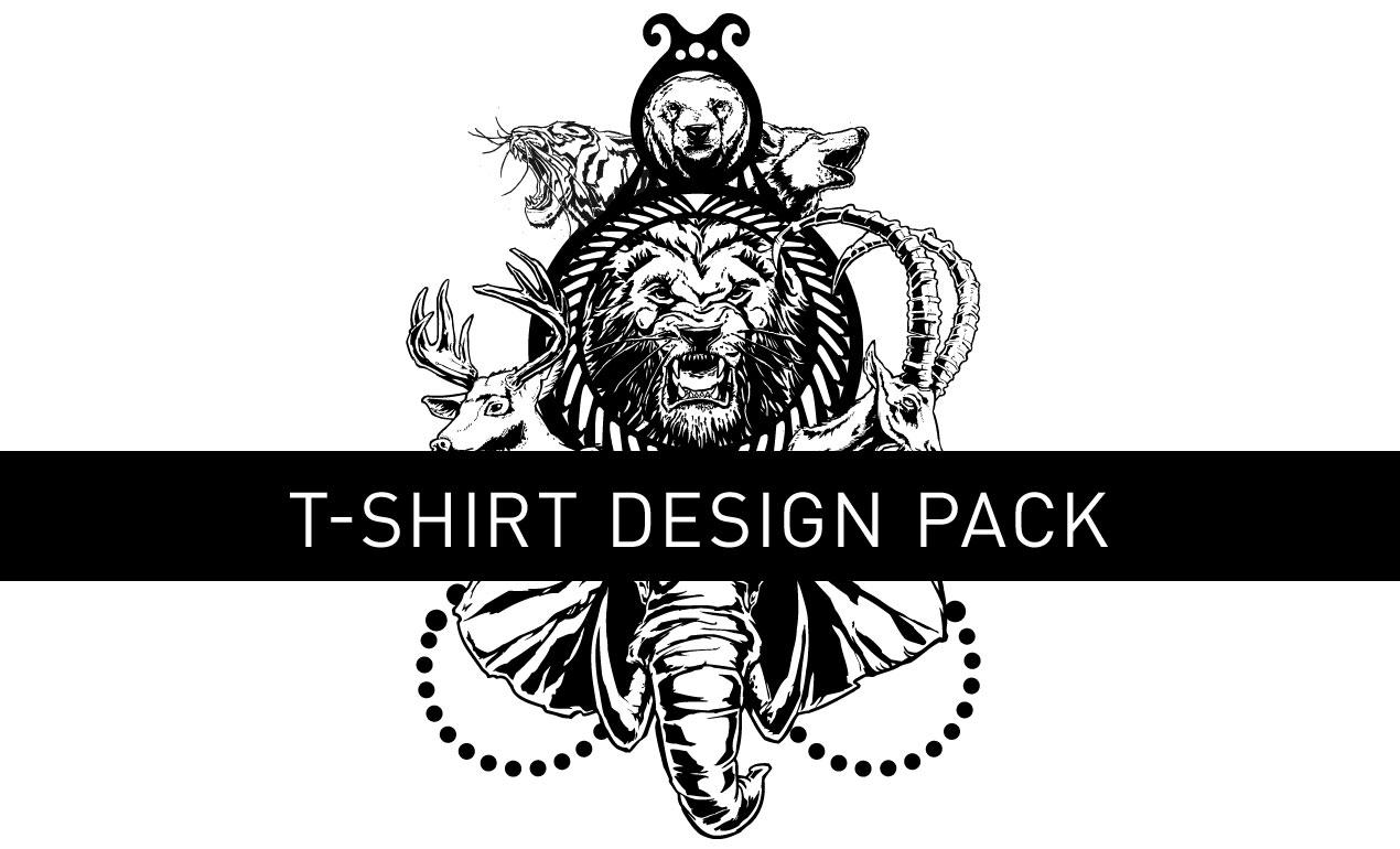 unleashed vector t-shirt design pack